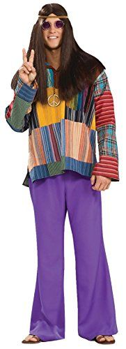 UHC Mens Retro Bell Bottom Pants Purple Comical Theme Adult Halloween Costume OS *** You can get additional details at the image link.