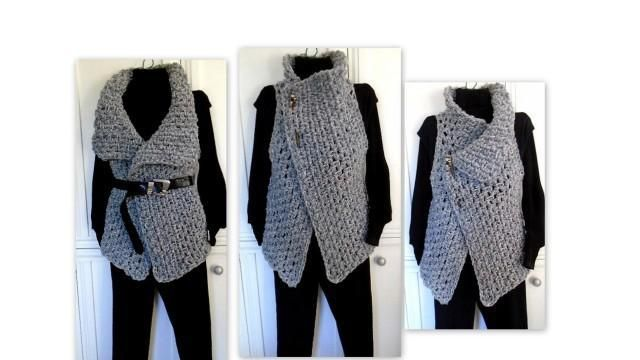 Looking for your next project? You're going to love 884, CROCHET Wrap Vest, Easy Beginner  by designer Hectanooga.