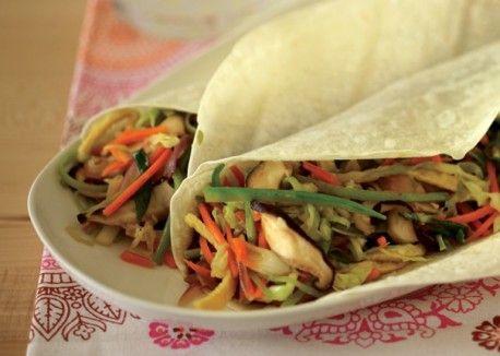 Vegetable Moo Shu Wraps | Vegetarian Times