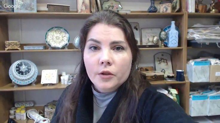 Ирина Ярощук. Чайный короб с имитацией кружева. 17.04.2017 - YouTube