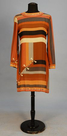 PUCCI PRINTED SILK CHIFFON MINI DRESS, 1960's.