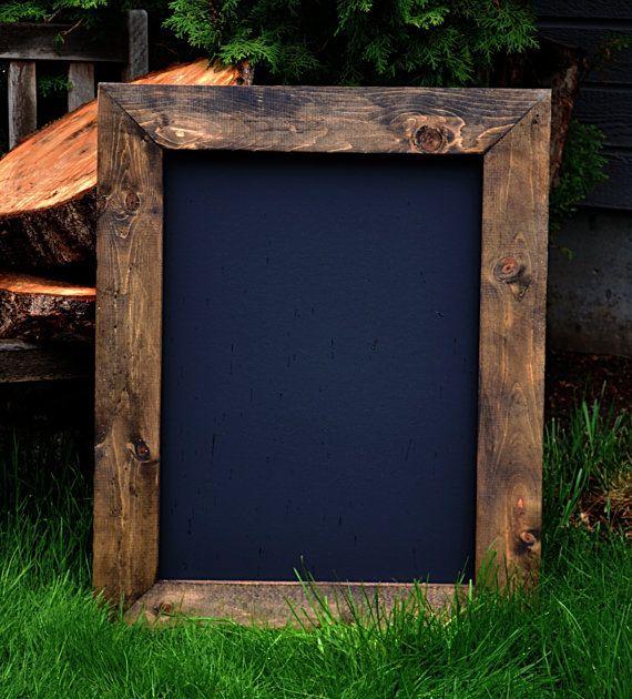 """Rustic Framed Chalkboard 24""""x30"""", Rustic Wedding Sign, Menu Board, Chalkboard, Reclaimed Wood, Rustic Chalkboard on Etsy, $55.00"""