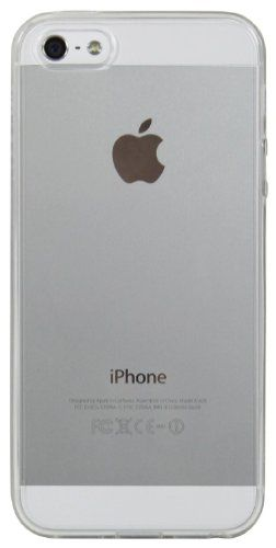 LUVVITT® CLEARVIEW Scratch-Resistant Slim Clear Back Case with Bumper / Cover for iPhone 5 / 5S (LIFETIME WARRANTY | Retail Packaging) - Cle...