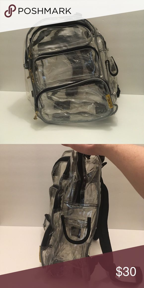 Clear backpack Clear backpack excellent condition. Five pockets. clear backpack Bags Backpacks