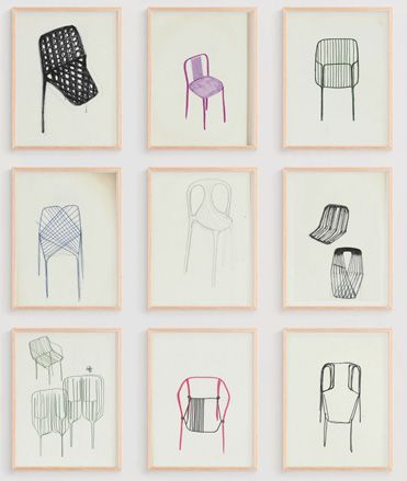 Bouroullec chair drawings