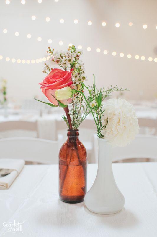 #stringlights #DIYwedding #bottlevases #gardenpartywedding
