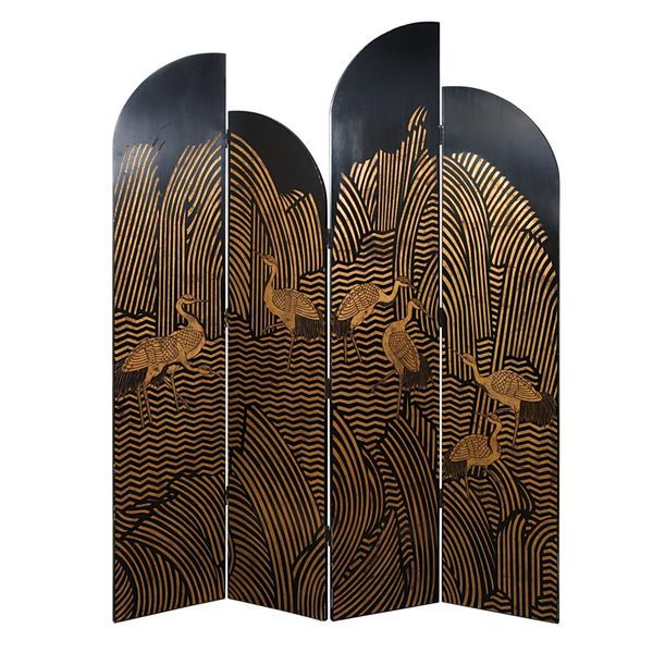 Chinese Art Deco screen.                                                                                                                                                                                 Plus