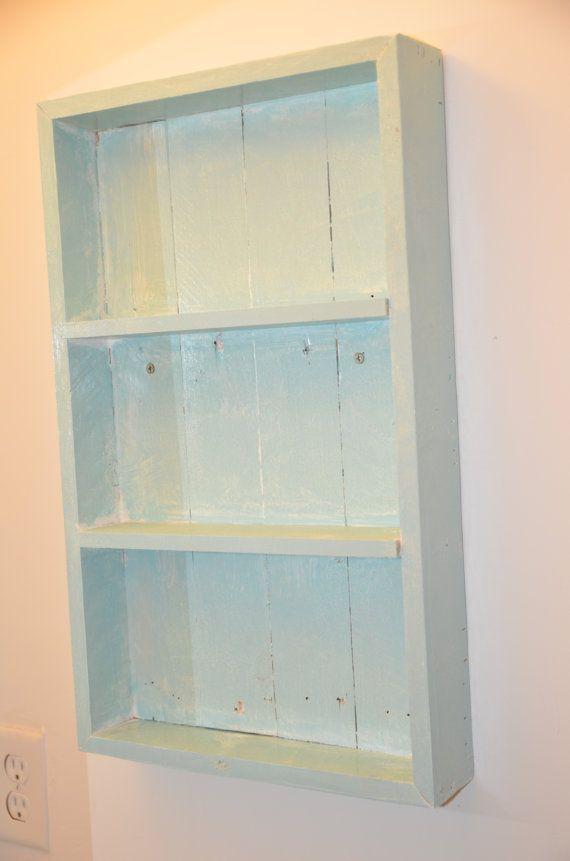 Shabby chique planken | Rustieke planken | Home Decor | Teruggewonnen hout | Wall Mount | Badkamer Decor