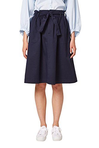 f389e3b9431ab7 edc by Esprit Women's 038cc1d003 Skirt Blue (Navy 400) 12 (Manufacturer  Size: 38)