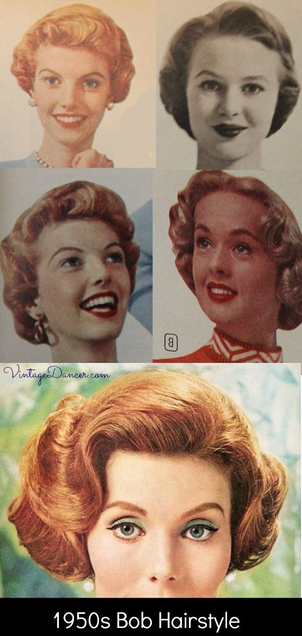 1950s Bob Or Bobbed Hairstyles Short Curly Fun 1950s Hairstyles Short Hair Styles Hair Styles