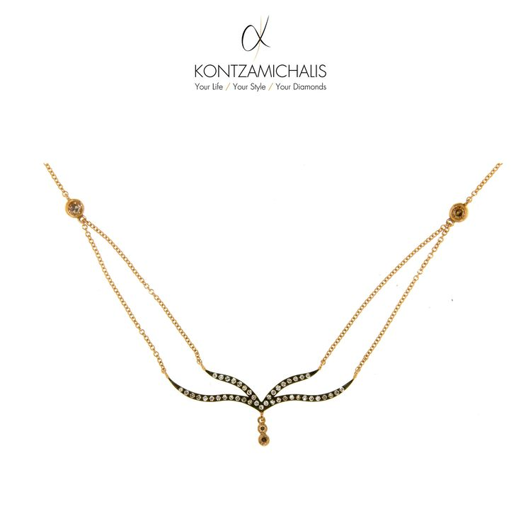 An elegant and simple to wear necklace; appropriate for any occasion. #KontzamichalisJewellery