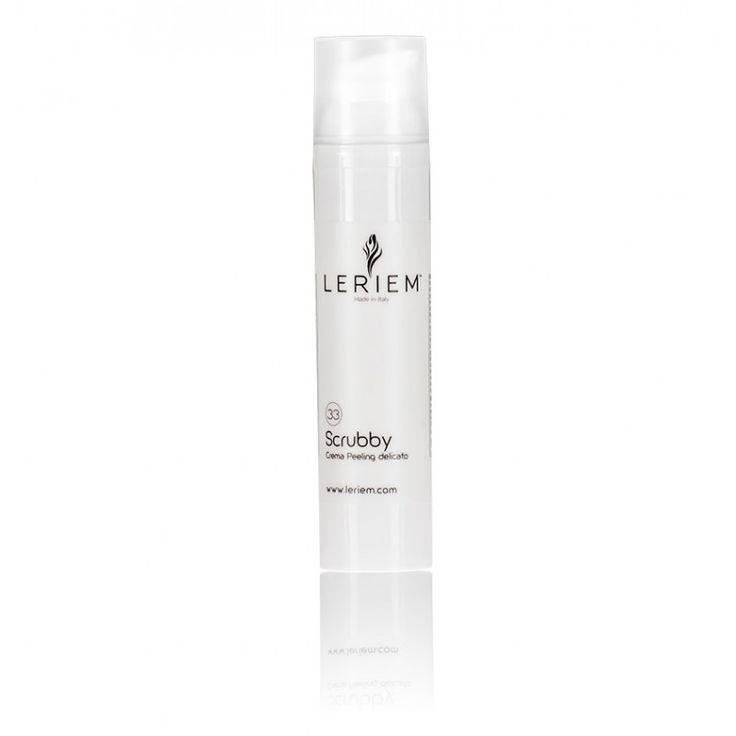 SCRUBBY Crema Peeling Delicato  Trattamento purificante per il viso e per il corpo che agisce con effetto esfoliante delicato. Il processo di leggera abrasione superficiale tende a eliminare le cellule morte della pelle lasciando la pelle liscia e vellutata.