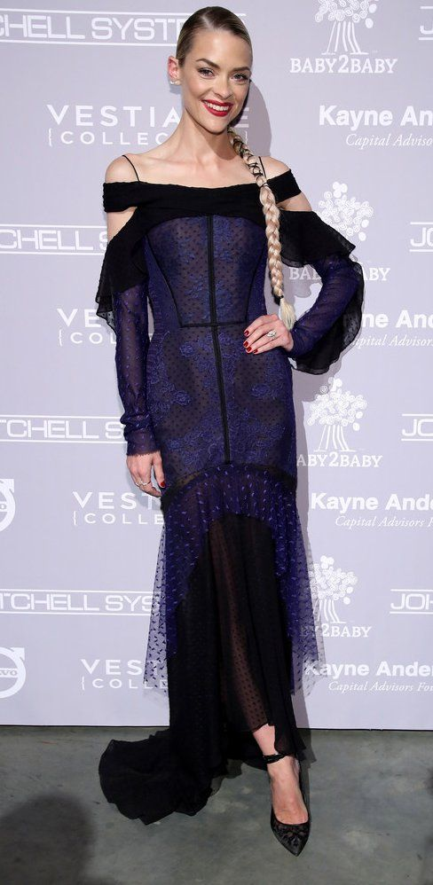 Jaime King in J.Mendel attends the Fifth Annual Baby2Baby Gala. #bestdressed