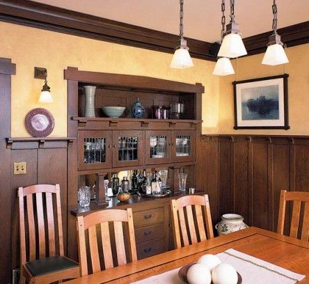 Best 25 craftsman dining room ideas on pinterest for Arts and crafts wainscoting