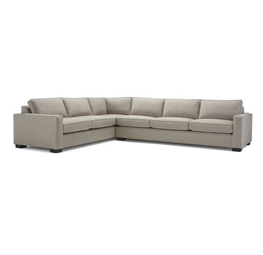 "CARSON SECTIONAL<BR>[available online and in stores] 38""d see sectional pieces has corner round Michell Gold & Williams"