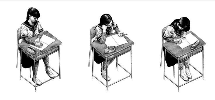 Artist Shohei Otomo - 予襲復讐(マキジマム ザ ホルモン「予襲復讐」アルバムジャケットイラスト)