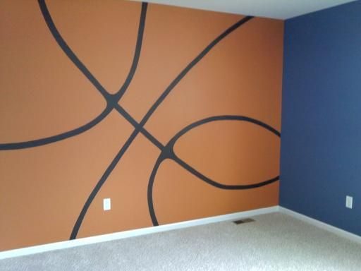 Basketball Jones ~ basketball graphic mural