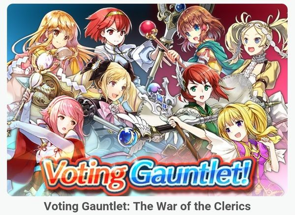 Fire Emblem Heroes - content update for June 27th 2017   [Quests] The second set of weekly Special Quests for the Arena is now live (available until July 4th) [Event] The 4th Voting Gauntlet War of the Clerics is now live. (available until July 3rd) [Log-in Bonus] Through the duration of the latest Voting Gauntlet all players get 5 Battle Flags each day as Special Log-in Bonus (available until July 3rd) [Quests] A new set of Special Quests is now available: Voting Gauntlet. It allows you to…