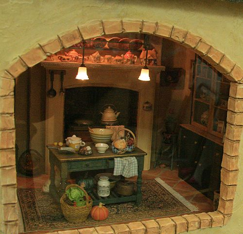 Mini Kitchen Room Box: 116 Best Miniature Shadow Box Rooms Images On Pinterest