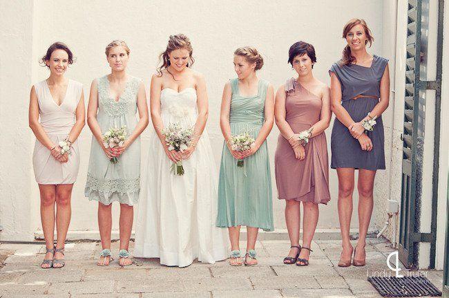 Garden Wedding Bridesmaids Style ft. in Eco Friendly Karoo Style Garden Wedding, South Africa   Confetti Daydreams ♥ ♥ ♥ LIKE US ON FB: www.facebook.com/confettidaydreams ♥ ♥ ♥ #Wedding #RealBride #GreenWedding