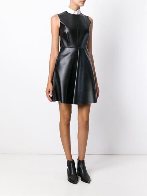 Msgm Sleeveless Faux Leather Dress - Monti - Farfetch.com