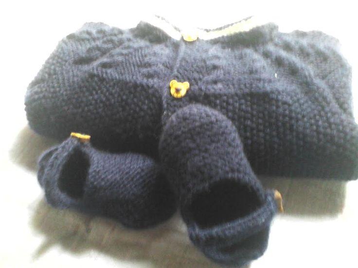 Conjunto de menino (casaco e sapatinhos)