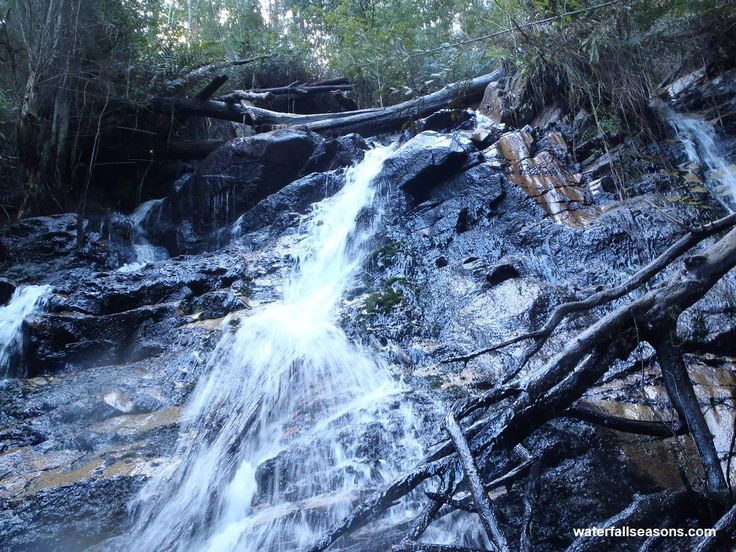 The upper cascade of Lawson Falls; Bunyip State Forest; Gippsland Victoria