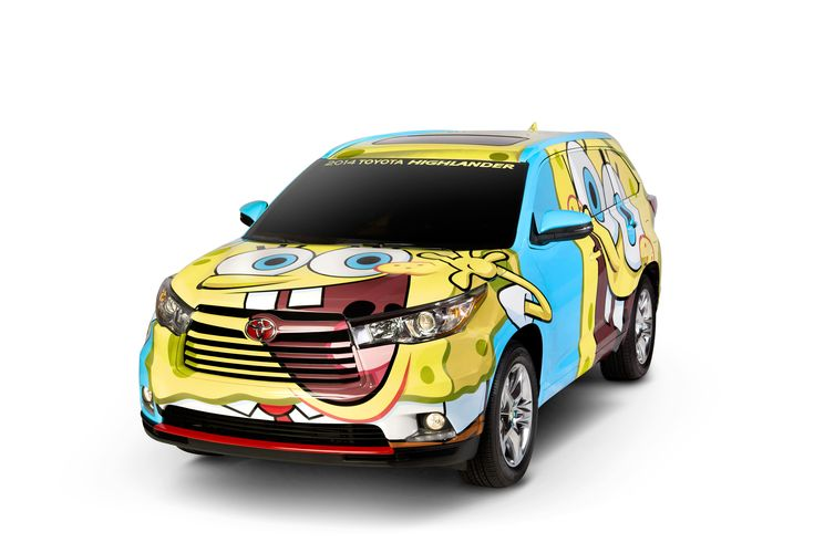 Custom #SpongeBob-themed exterior design. Toyota Highlander (Tanked Edition)