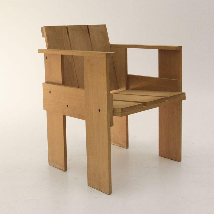 sei sedie crate chair di Gerrit Rietveld per Cassina, dining chairs, 80's, de stijl