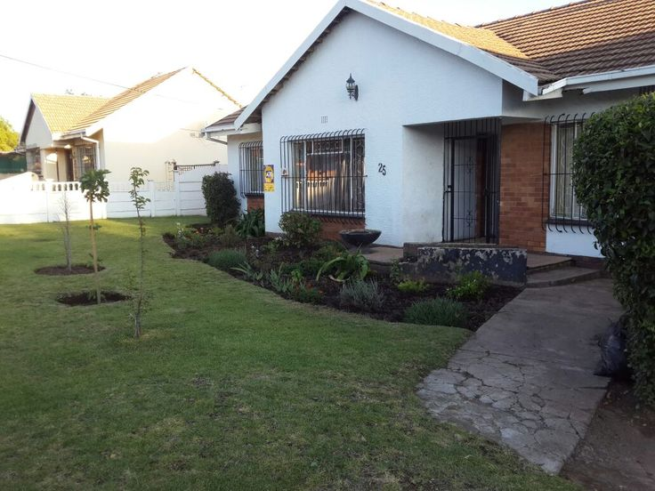 """Young energetic couple who love hosting guests. Our home is on the West Rand, close to the FNB stadium, the Florida Lake and within a 20km distance to the JHB CBD. The bedroom is sunny and overlooks our back garden and 3 beautiful Great Danes. We have left a vintage desk in there with enough space should you need some """"productive"""" time."""