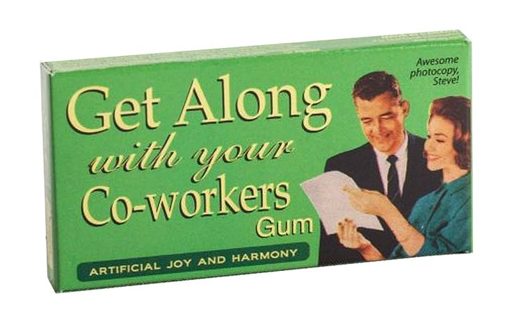 Get Along With Your Co Workers  Fruit Chewing Gum | Novelty Chewing Gum, Funny, Humorous, Hilarious Office Gift, Supply, Supplies | Catching Fireflies