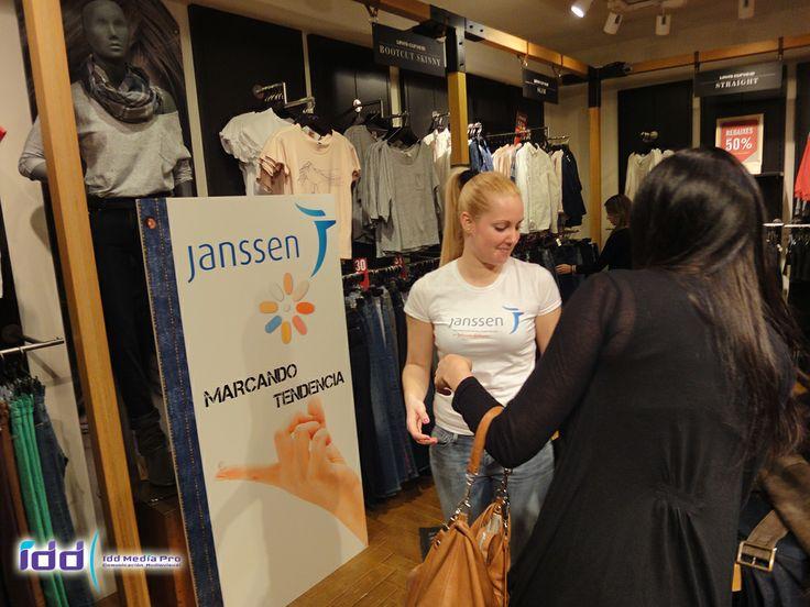 Acción en tienda de Levi´s Barcelona 1