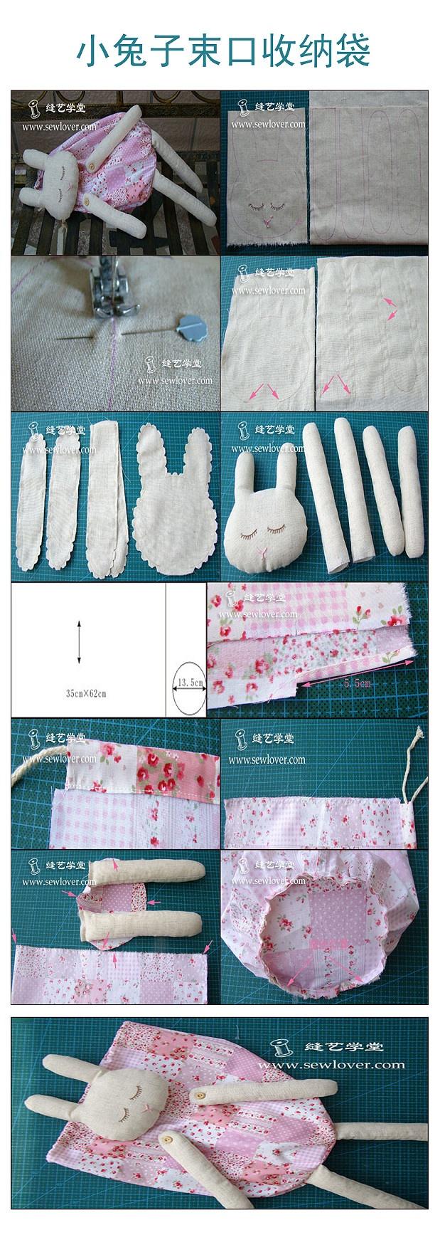 DIY materiales hechos a mano: del conejo con un paño: los 45cm x 45 ...
