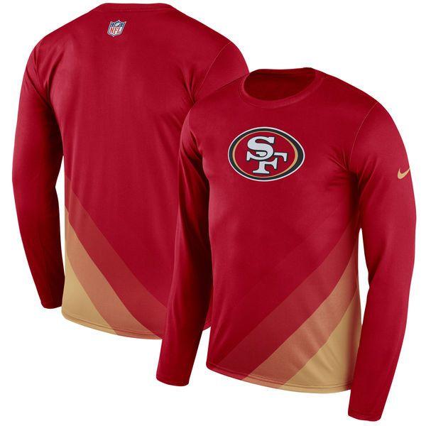 San Francisco 49ers Nike Sideline Legend Prism Performance Long Sleeve T Shirt Scarlet 44 99 Long Sleeve Tshirt Men San Francisco 49ers Long Sleeve