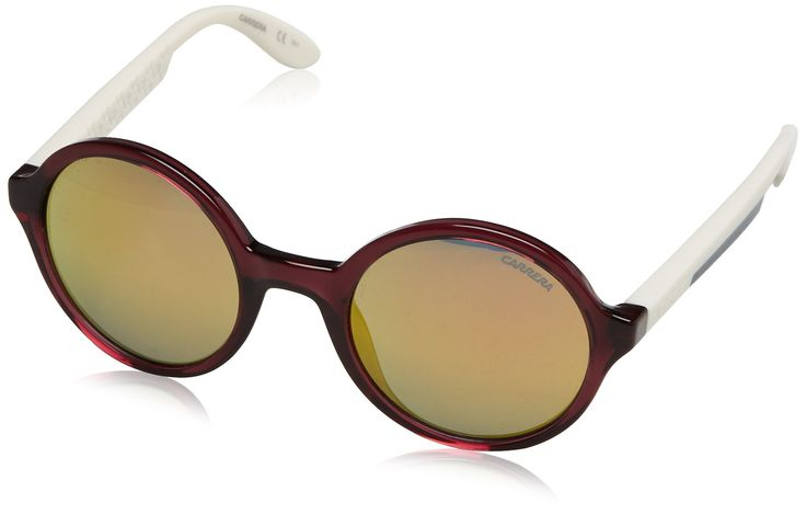 Carrera sunglasses 5008 0THUW Acetate Transparent Purple - Ivory Grey with Petrol mirror effect