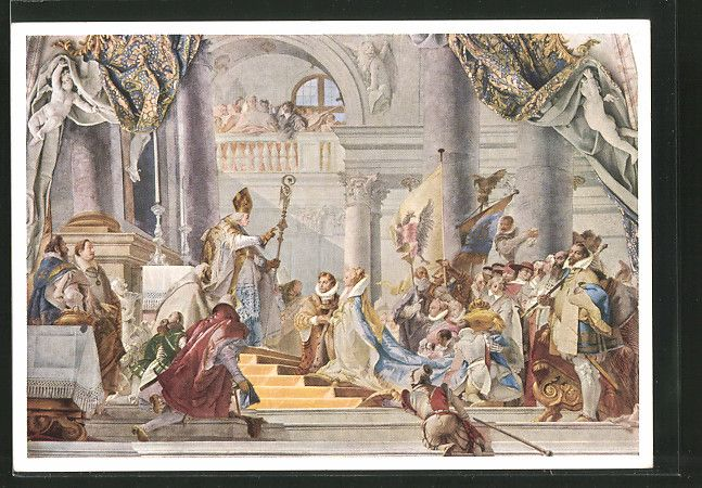 Giovanni Battista Tiepolo. The Marriage of the Emperor Frederick Barbarossa to Beatrice of Burgundy. 1751