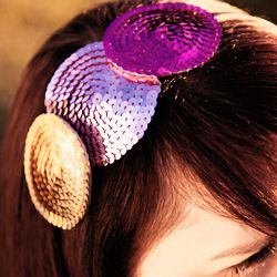 Learn how to make a sparkly sequin headband with just a few supplies!