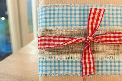 Gift wrap idea  #shopfesta: Fabrics Gifts, Creative Handmade, Gifts Wraps, Diy Gifts, Holidays Gifts, Handmade Gifts, Fabric Gifts, Wraps Gifts, Wraps Ideas