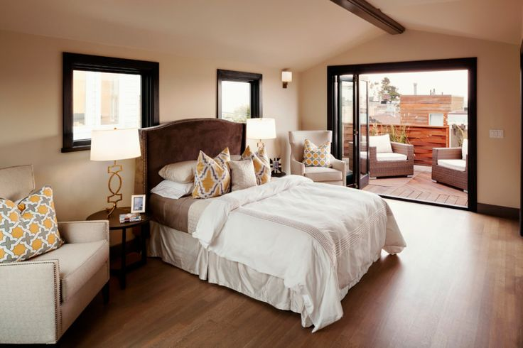 Featured. Brown Wooden Decks for Indoor and Outdoor Design: Enchanting Master Bedroom Design With Beam Deck Fence Floor Indoor And Outdoor Also White Puffy Sofa Design Ideas ~ wegli