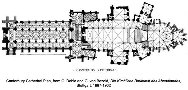 Canterbury cathedral floor plan cathedral architecture Canterbury floor plan