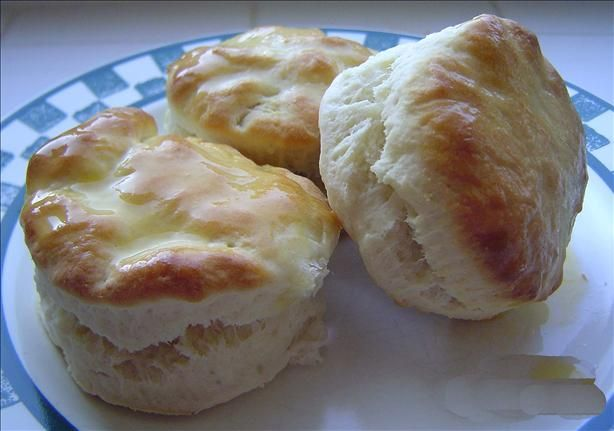 Cracker Barrel Old Country Store Biscuits   I like these because they are so quick and easy. Even though you use Bisquick, they don't come out tasting like Bisquick or like baking powder. I always have to double the batch to make sure I get some!