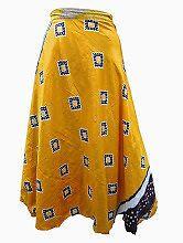 Easy Breezy Silk Sari Wrap Skirt Yellow