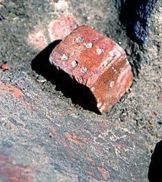 Ancient Indian Games - a die found at Harappa