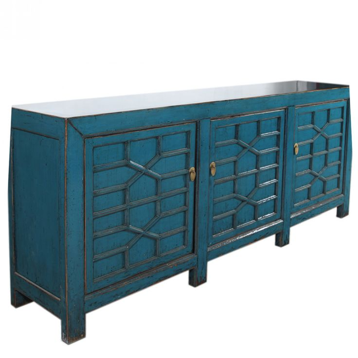 Long 3 Door Pagoda Sideboard