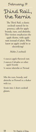 Recipe for a third rail cocktail apple
