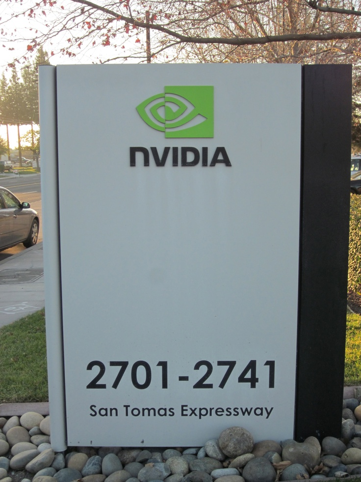 nVIDIA Company Sign, Kingdom Ridge Capital, Geeks on the Road, Silicon Valley