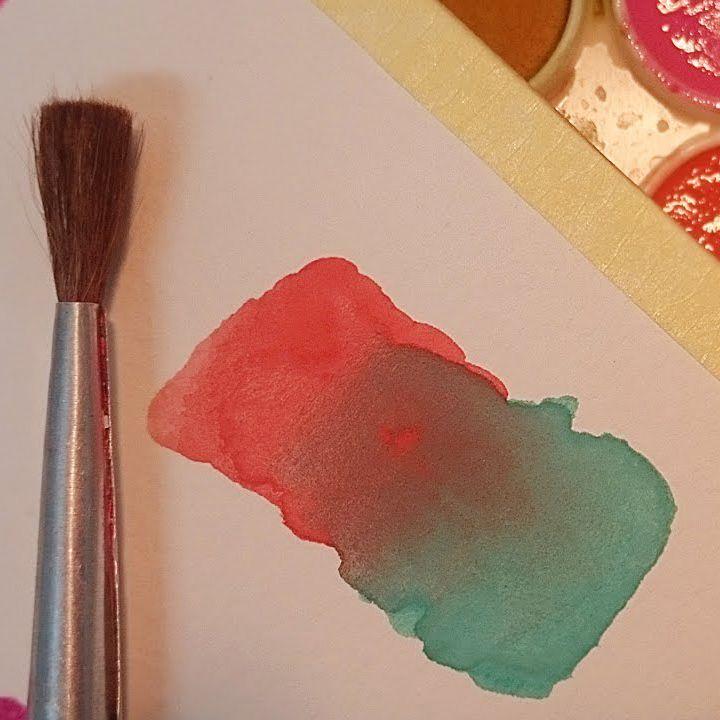 تعليم الرسم اساسيات الرسم بالالوان المائية تأثير التدرج بين لونين رسم اساسيات تدرج الوان مائية Art Drawings Drawings Art