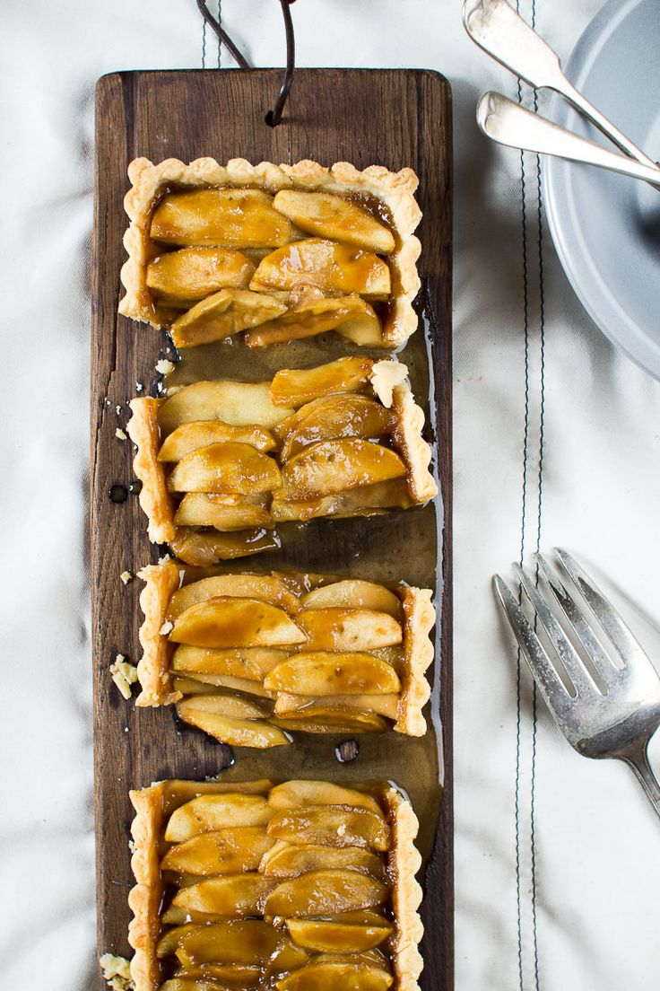 Salted Caramel Apple Tart by flourishingfoodie #Tart #Apple #Salted_Caramel