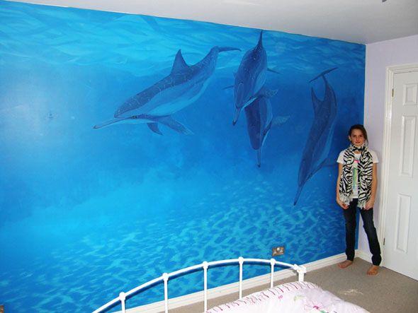 Dolphin Wall Mural Ideas Nice Dolphin Mural Wall U2013 Interior Decals
