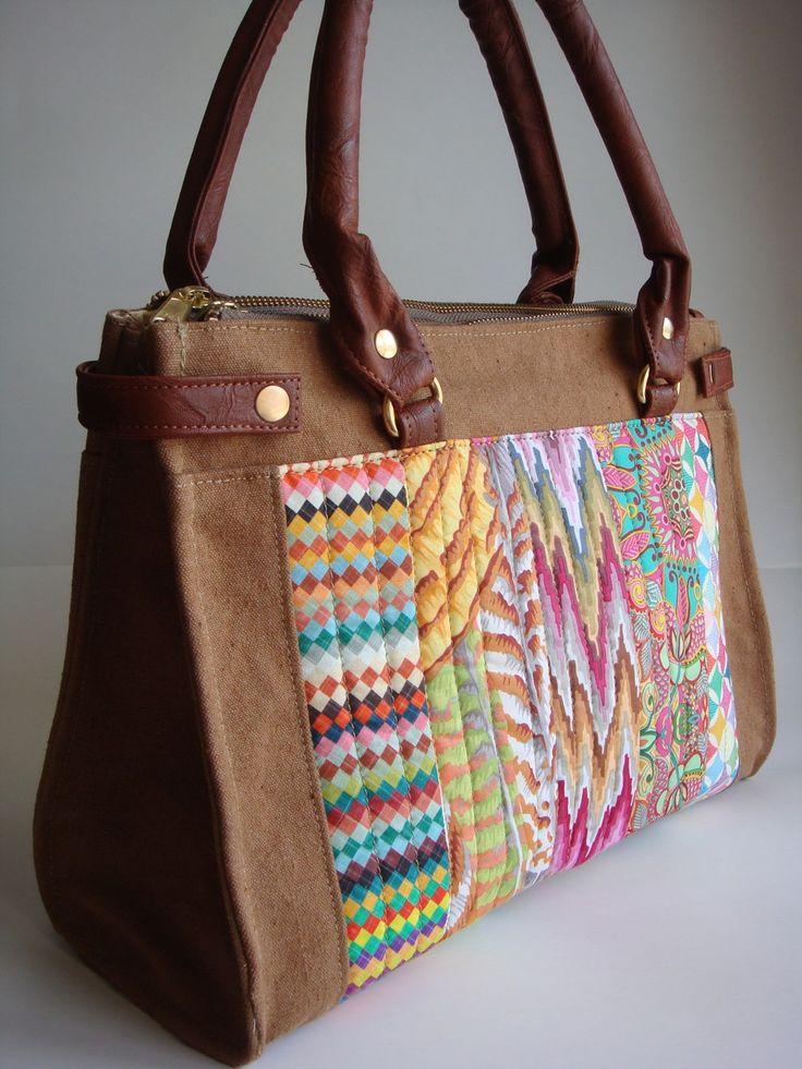 Bolsa Feita Com Tecido De Sombrinha : Melhores ideias sobre bolsa de lona feminina no
